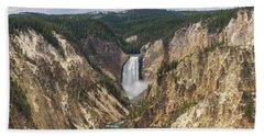 Lower Falls Of The Yellowstone Beach Sheet