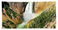 Lower Falls Rainbow Beach Towel