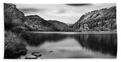 Beach Towel featuring the photograph Lower Lake At Glendalough, County Wicklow - Ireland by Barry O Carroll
