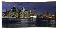 Lower Manhattan From Brooklyn Heights At Dusk - New York City Beach Towel