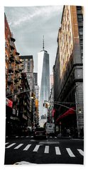 Beach Towel featuring the photograph Lower Manhattan One Wtc by Nicklas Gustafsson