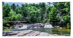 Lower Waterfall View Beach Towel
