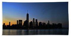 Lower Manhattan At Sunrise Beach Sheet
