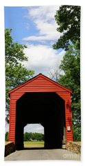 Loys Station Covered Bridge Maryland Beach Towel