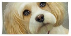 Beach Towel featuring the painting Lucas Cavachon by Catia Lee