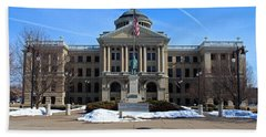 Beach Towel featuring the photograph Lucas County Courthouse I by Michiale Schneider