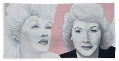 Lucille And Vivian Beach Towel