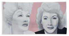 Lucille And Vivian Beach Towel
