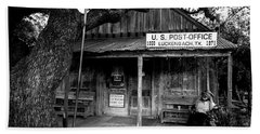 Beach Towel featuring the photograph Luckenbach Texas by David Morefield