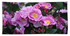 Beach Towel featuring the photograph Lucky Floribunda Roses by Rona Black
