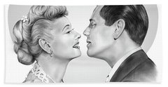 Lucy And Desi Beach Towel