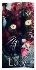 Lucy The Cat Beach Towel