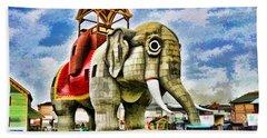 Lucy The Elephant 2 Beach Sheet