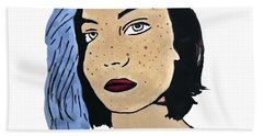Lucy's Self Portrait Beach Towel