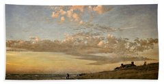 Beach Towel featuring the photograph Ludington State Park Beach House At Sunset by Michelle Calkins