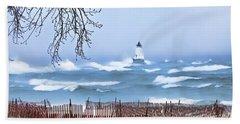 Ludington Winter Shore  Beach Sheet