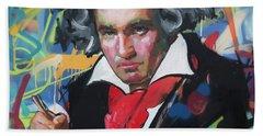 Ludwig Van Beethoven Beach Towel by Richard Day