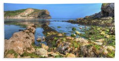 Lulworth Cove Entrance Beach Sheet by Hazy Apple