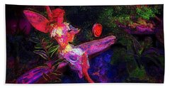 Beach Sheet featuring the photograph Luminescent Night Fairy by Lori Seaman