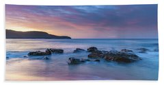 Luminescent Sunrise Seascape Beach Sheet