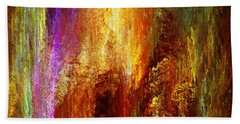 Luminous - Abstract Art Beach Towel by Jaison Cianelli