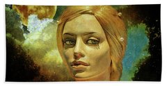 Luna In The Garden Of Evil Beach Towel