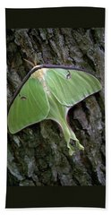 Beach Towel featuring the photograph Luna Moth by Marie Hicks
