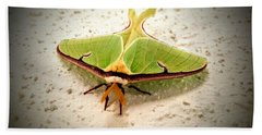 Luna Moth Beach Towel