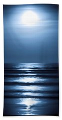 Lunar Dreams Beach Sheet by DigiArt Diaries by Vicky B Fuller