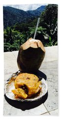 Lunch At El Yunque Beach Sheet by The Art of Alice Terrill