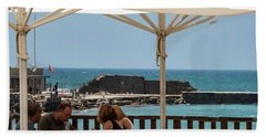 Beach Towel featuring the photograph Lunch At The Mediterranean by Mae Wertz