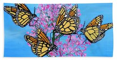 Butterfly Feeding Frenzy Beach Towel