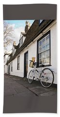 Beach Sheet featuring the photograph Lunch French Style By Bicycle In Cambridge by Gill Billington
