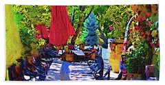 Lunch In Wine Country Beach Sheet by Kirt Tisdale