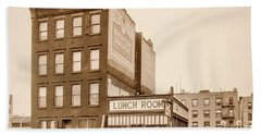 Beach Towel featuring the photograph Lunchroom  by Cole Thompson