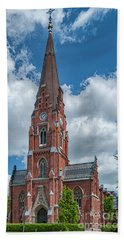 Beach Towel featuring the photograph Lund All Saints Church by Antony McAulay