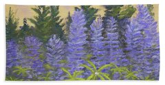 Lupine In The Morning Beach Towel