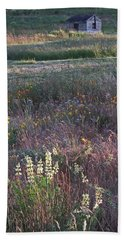Lupine Beach Towel by Laurie Stewart
