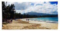 Luquillo Beach, Puerto Rico Beach Sheet by The Art of Alice Terrill