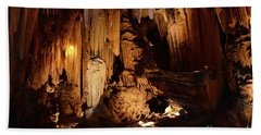 Beach Towel featuring the photograph Luray Dark Caverns by Paul Ward