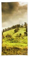 Lush Green Country Farmland Beach Towel