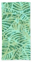Beach Towel featuring the digital art Lush Meadow Fossil Leaves by Karen Dyson