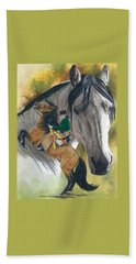 Beach Sheet featuring the painting Lusitano by Barbara Keith