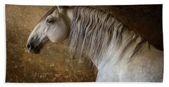 Lusitano Portrait Beach Sheet by Ekaterina Druz