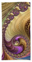 Beach Towel featuring the digital art Luxe Colorful Fractal Spiral by Matthias Hauser