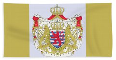 Beach Towel featuring the drawing Luxembourg Coat Of Arms by Movie Poster Prints