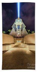 Luxor Casino Egyptian Sphinx Las Vegas Night Beach Towel