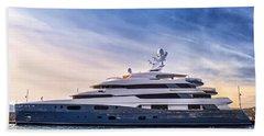 Luxury Yacht Beach Towel