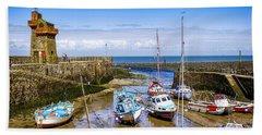 Lynmouth Harbor In Devon, Uk Beach Towel
