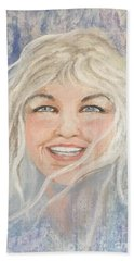 Lynnportrait Of A Young Woman  Beach Towel